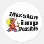 Imp de la misión posible pegatina redonda