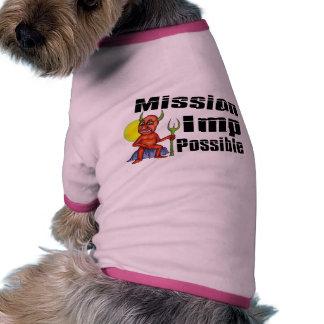 Imp de la misión posible camisa de mascota
