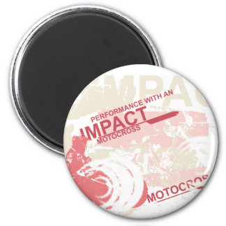 Impact Motocross Tshirts and Gifts 2 Inch Round Magnet