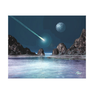 IMPACT Sci-Fi Retro Space Art Poster Canvas Print
