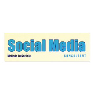 Impact Social Media Consultant Business Card