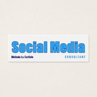 Impact Social Media Consultant Mini Business Card