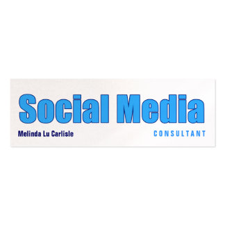 Impact Social Media Consultant w/ QR Code Double-Sided Mini Business Cards (Pack Of 20)