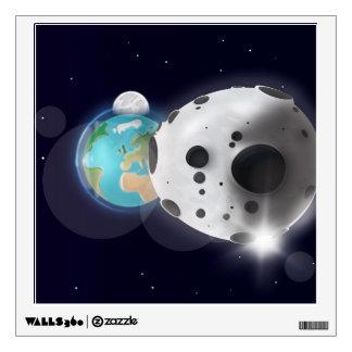 ¡Impacto astroide la tierra del planeta!