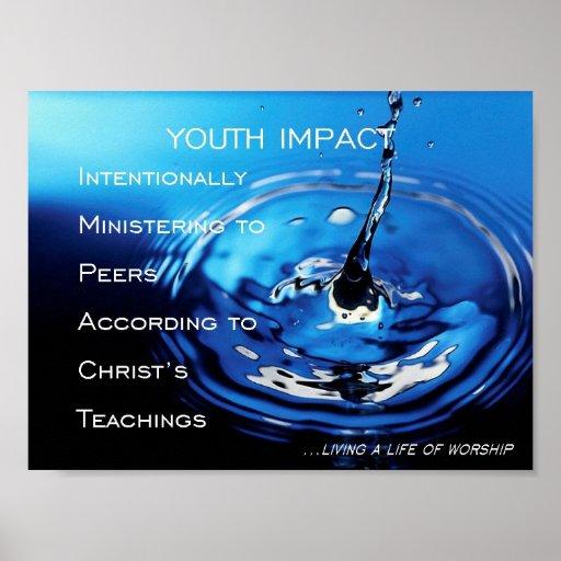 Impacto de la juventud póster