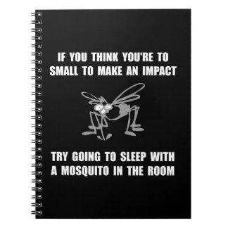 Impacto del mosquito libreta espiral
