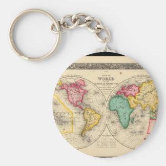Impaired World Map 25 Keychain