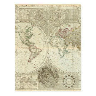 Impaired World Map 25 Postcard