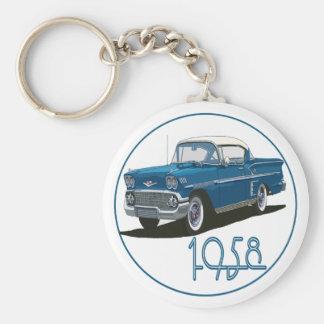 Impala 1958 llavero redondo tipo pin