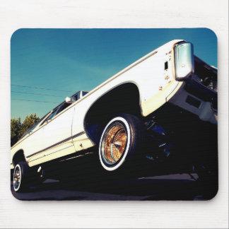 Impala blanco Mousepad de Chevy del Lowrider