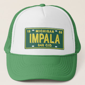 Impala from Michigan License Plate T-Shirt Trucker Hat