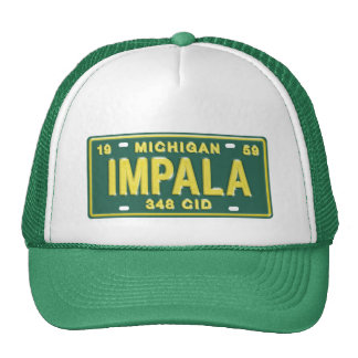 Impala from Michigan License Plate T-Shirt Trucker Hat
