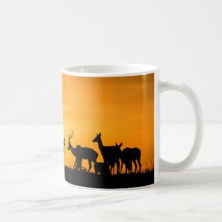 Impala Herd at Sunset Coffee Mug