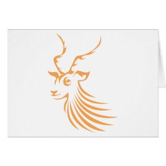 Impala in Swish Drawing Style Card
