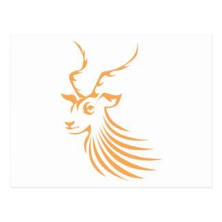Impala in Swish Drawing Style Postcard