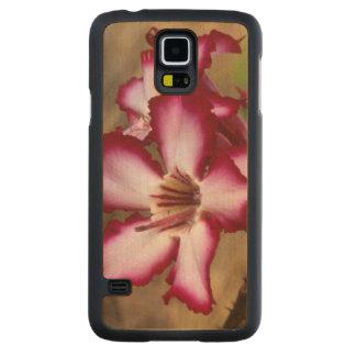 Impala Lily (Adenium Multiflorum), Kruger Carved Maple Galaxy S5 Slim Case