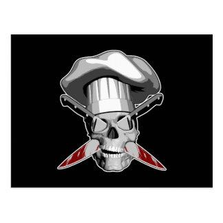 Impaled Chef Skull v4 Postcard