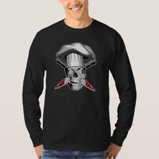 Impaled Chef Skull v4 T-Shirt