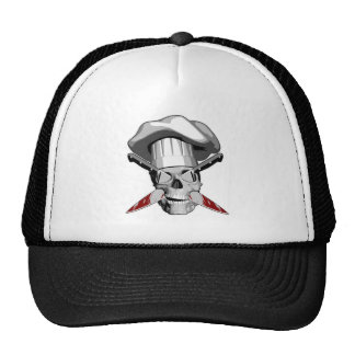 Impaled Chef Skull v4 Trucker Hat