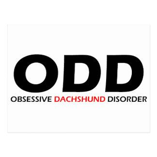 IMPAR - desorden obsesivo del Dachshund Postales