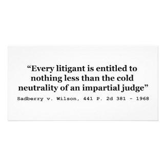 Impartial Judge Sadberry v Wilson 441 2d 381 1968 Card
