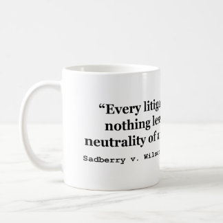 Impartial Judge Sadberry v Wilson 441 2d 381 1968 Classic White Coffee Mug