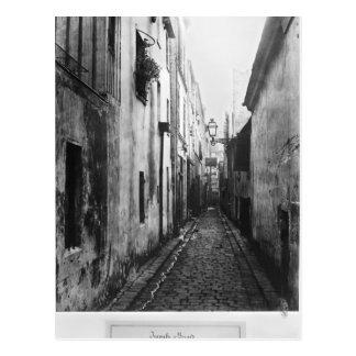 Impasse Briard, from cite Coquenard, Paris Postcard