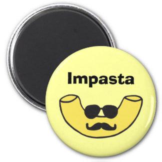Impasta Macaroni Noodle 2 Inch Round Magnet