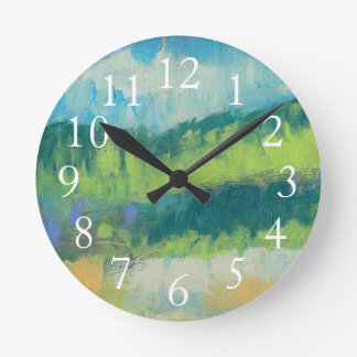 Impasto Field II Round Clock
