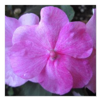 Impatien Purple Garden Flower Personalized Invitation