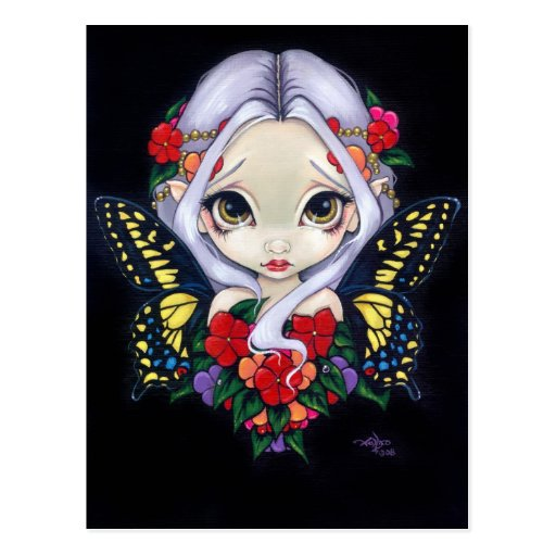 """Impatiens Fairy"" Postcard"