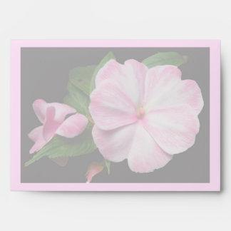 Impatiens Pink White Coordinating Items Envelope
