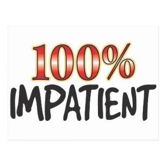 Impatient 100 Percent Postcard
