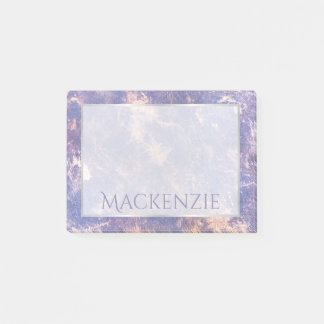 Impatient Office   Name Lavender Lilac Purple Gold Post-it Notes