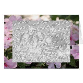 Impatients rosado tarjeta pequeña