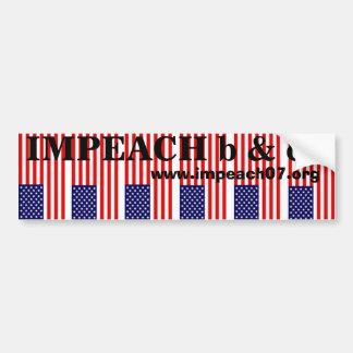 Impeach b&c bumper sticker