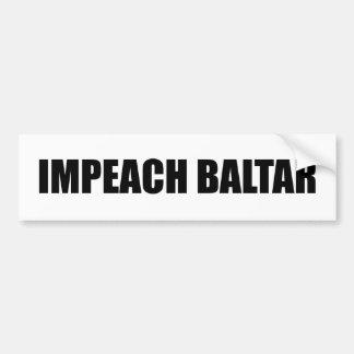Impeach Baltar Bumper Sticker