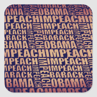 Impeach Barack Obama Square Stickers
