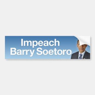 Impeach Barry Soetoro Bumper Sticker Car Bumper Sticker