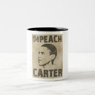 Impeach Carter Two-Tone Coffee Mug
