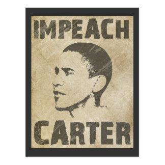 Impeach Carter Postcard