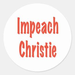 Impeach Christie Classic Round Sticker