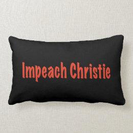 Impeach Christie Lumbar Pillow