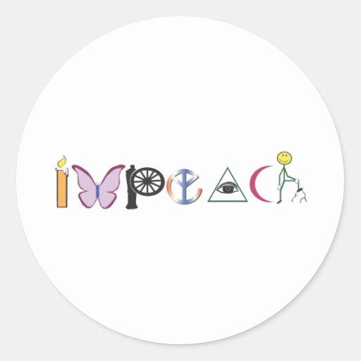 impeach-color.ai pegatina redonda