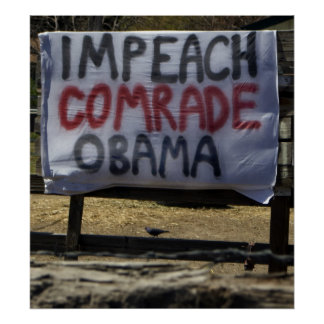 Impeach Comrade Obama, Washoe Valley, Nevada Poster