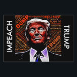 "Impeach Donald Trump Protest or Yard Sign<br><div class=""desc"">Two Sided Impeach Donald Trump Protest or Yard Sign  Awesome graphics by Johnhain https://pixabay.com/en/ohm-universe-sound-emoji-1913875/</div>"