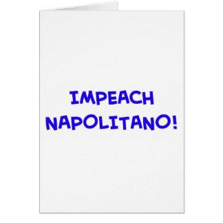IMPEACH NAPOLITANO CARD