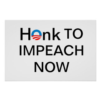 Impeach NOW paper for protest sign Print