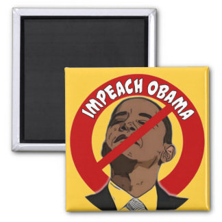 Impeach Obama 2 Inch Square Magnet