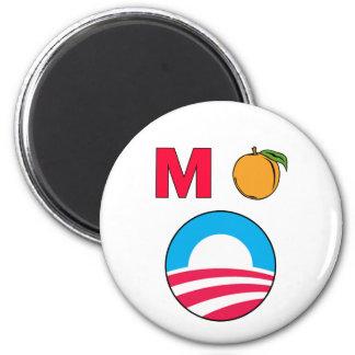 Impeach Obama barack president m peach 2 Inch Round Magnet